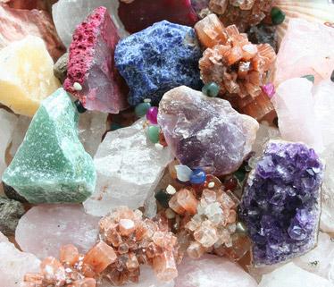 Einige kraftvolle Steine